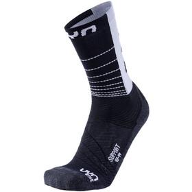 UYN Cycling Support Sokken Heren, zwart/grijs
